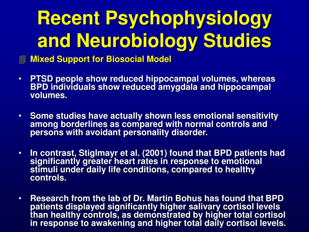 Recent Psychophysiology and Neurobiology Studies