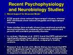 recent psychophysiology and neurobiology studies