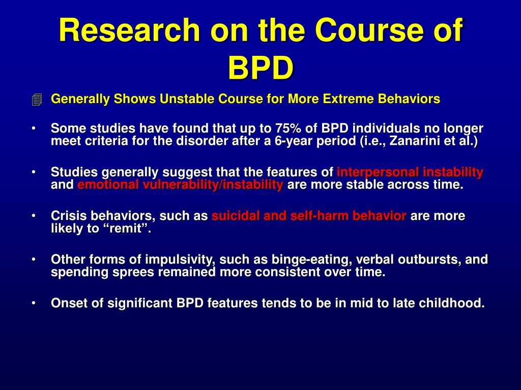 Research on the Course of BPD