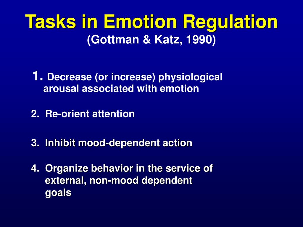 Tasks in Emotion Regulation