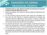 dimens es da norma processual tempo1
