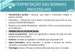 interpreta o das normas processuais