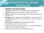 interpreta o das normas processuais1