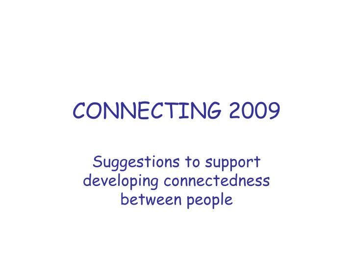 connecting 2009 n.