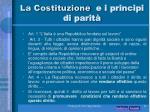 la costituzione e i principi di parit