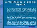 la costituzione e i principi di parit1