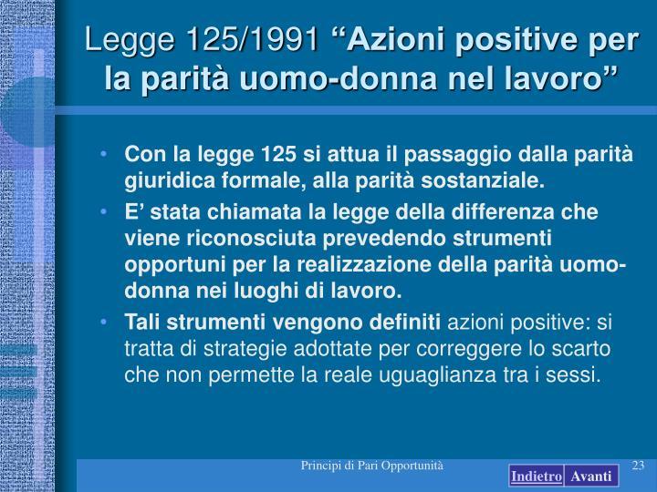 Legge 125