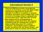 international society ii