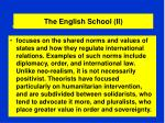 the english school ii