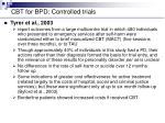 cbt for bpd controlled trials