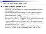 dbt for bpd controlled trials