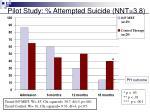 pilot study attempted suicide nnt 3 8