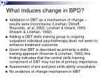 what induces change in bpd