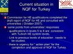 current situation in nqf for turkey