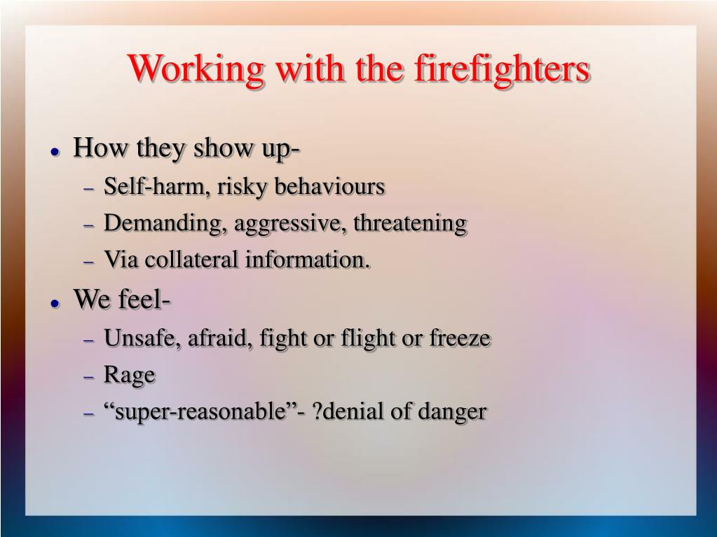 Working with the firefighters