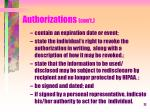 authorizations con t1
