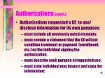 authorizations con t2