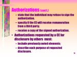 authorizations con t3