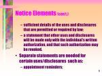 notice elements con t2