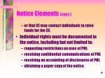 notice elements con t3