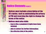 notice elements con t4