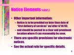 notice elements con t5