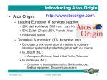 introducing atos origin