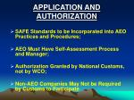 application and authorization