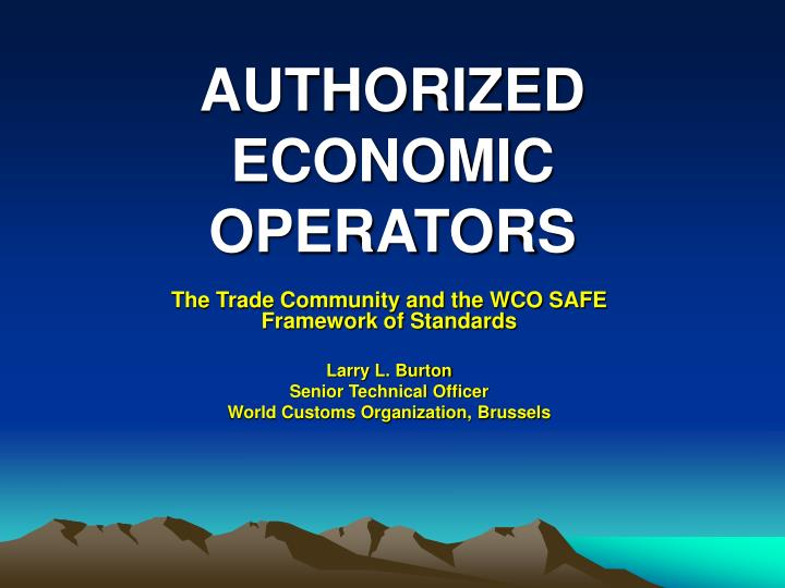 authorized economic operators n.