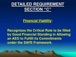 detailed requirement section c