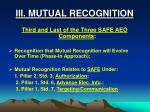 iii mutual recognition
