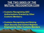 the two sides of the mutual recognition coin