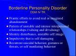 borderline personality disorder dsm iv tr