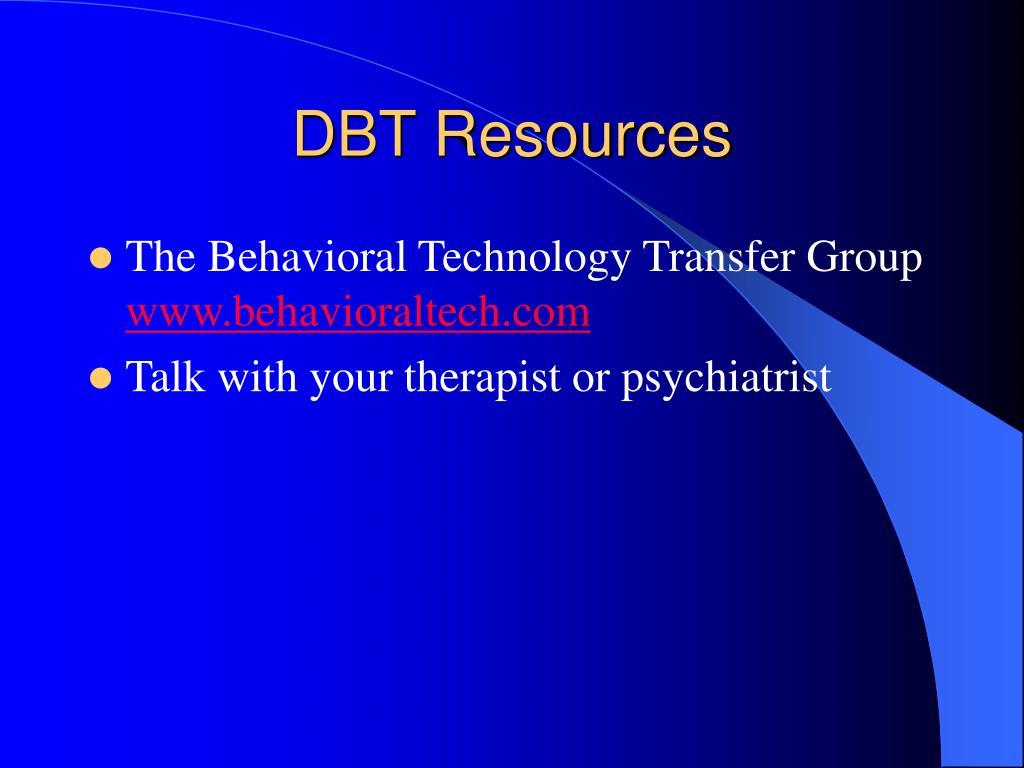 DBT Resources