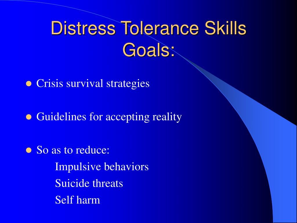 Distress Tolerance Skills
