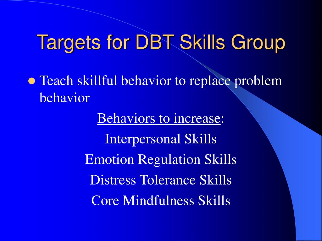 Targets for DBT Skills Group