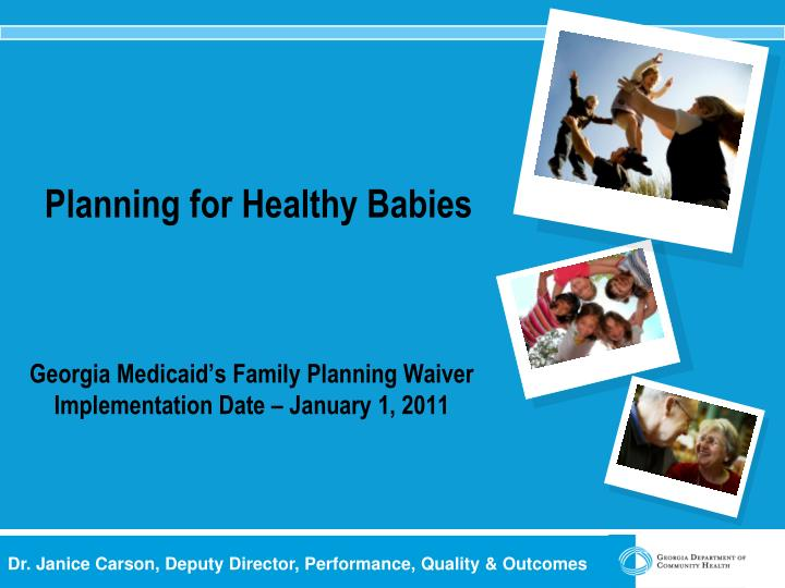 planning for healthy babies n.