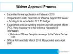 waiver approval process