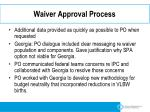 waiver approval process1