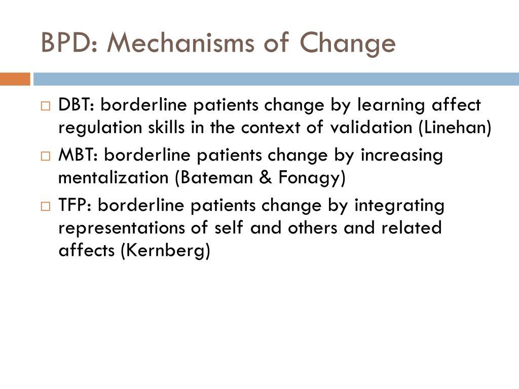BPD: Mechanisms of Change