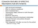 common features of effective treatments for bpd patients