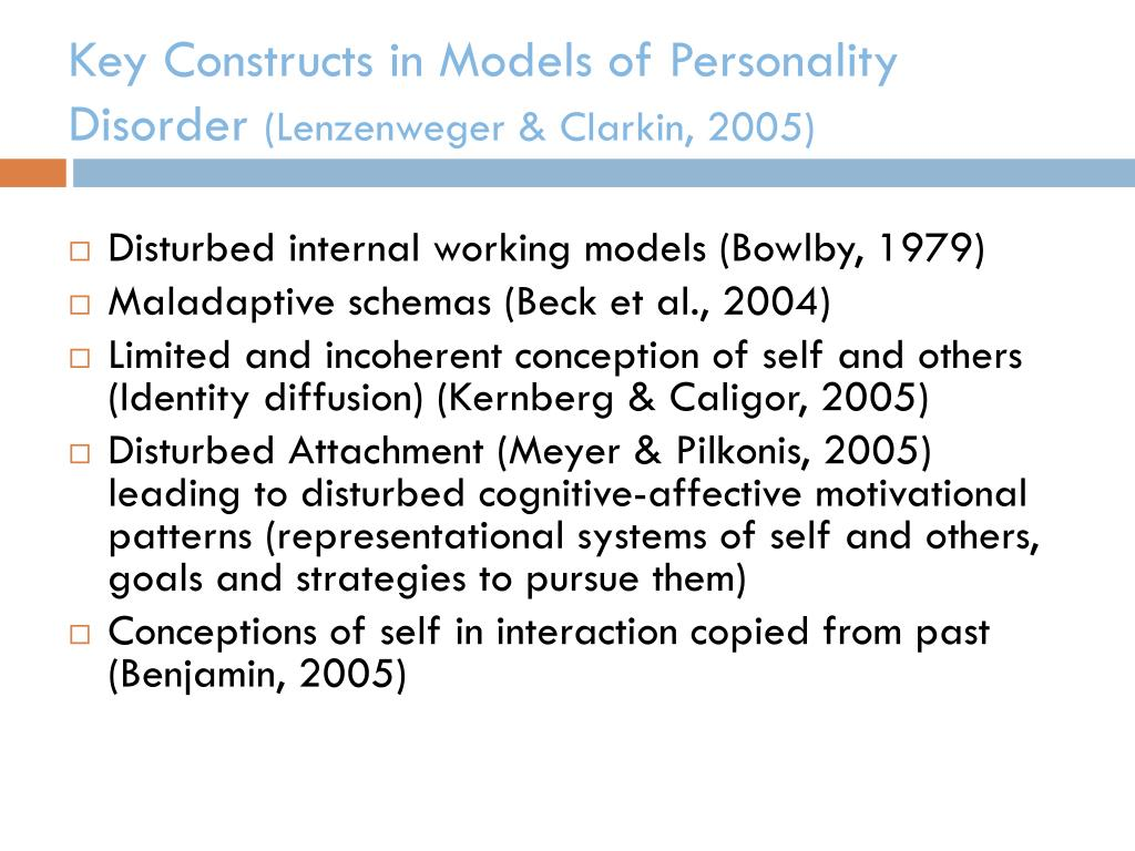 Key Constructs in Models of Personality