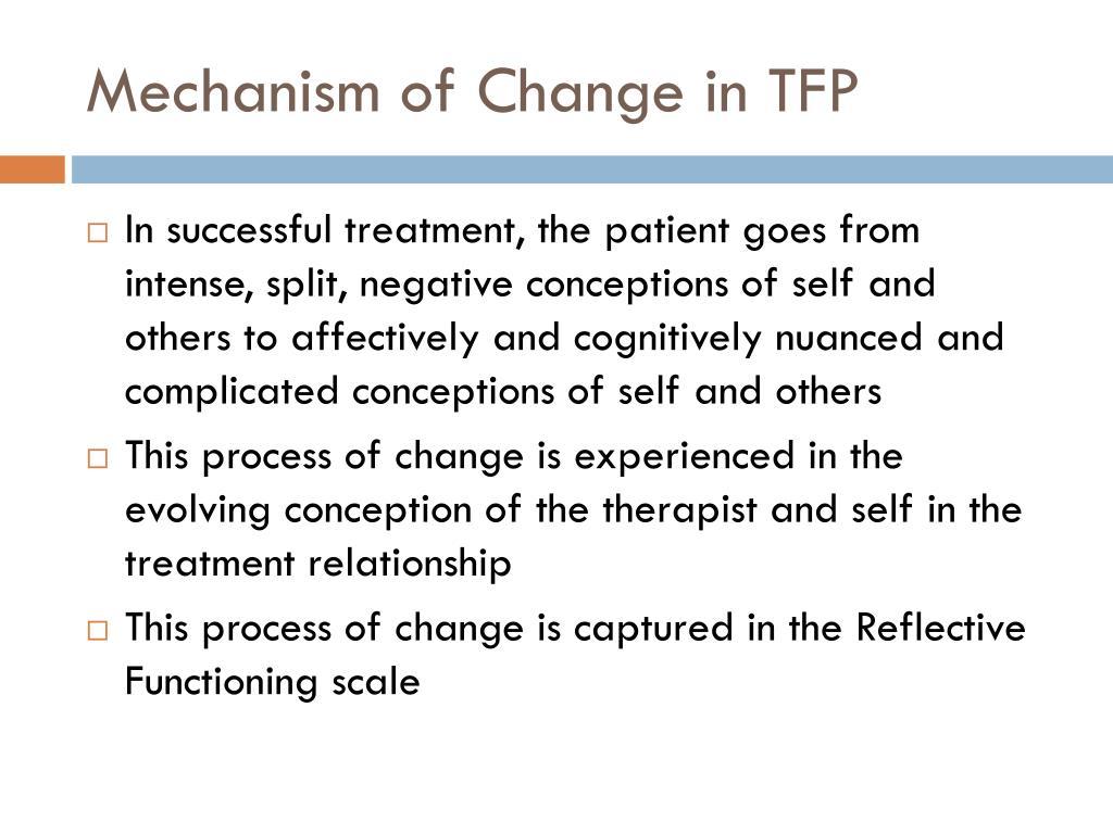 Mechanism of Change in TFP