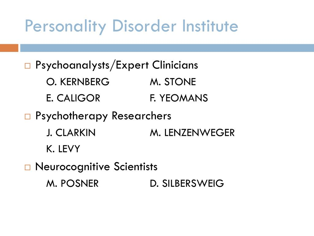 Personality Disorder Institute