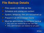 file backup details