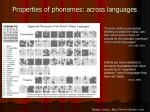 properties of phonemes across languages