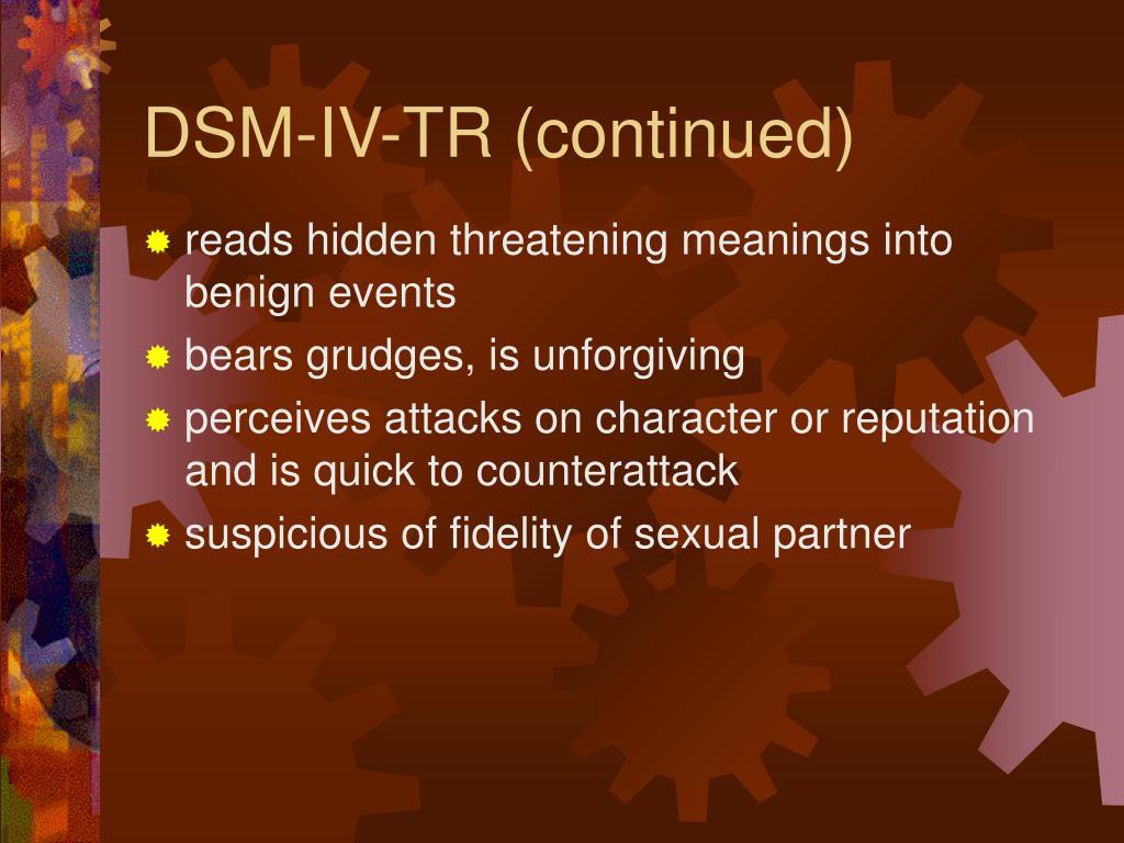 DSM-IV-TR (continued)