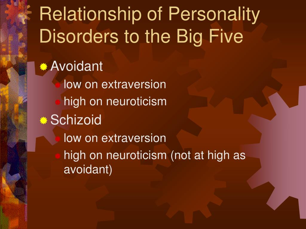 Relationship of Personality Disorders to the Big Five