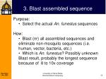 3 blast assembled sequence