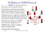 ip multicast igmp protocol